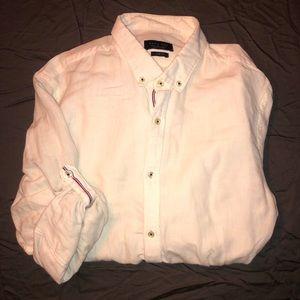 Zara White Linen Button Down